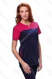 3-06 Блузон хирургический женский 3-06 (короткий рукав) (ADVA, 28F, 8F, Размер 42,44,46,48,50,52)