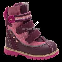 Сапожки ортопедические малосложные мех цв.1-бордово-розовый TW-502 (24,25,26,27,28,29,