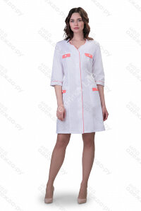 М-213 Халат медицинский женский  (3/4 рук, пуг) (Satory 0/13 Размер 44,46,48,50,52)