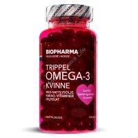 Biopharma Trippel Omega-3 Kvinne 120 капсул