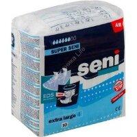 Подгузники для взрослых для средней и тяжелой степени недержания (дышащие) Super Seni 10 шт XL