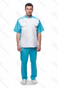 М-703 Костюм медицинский мужской  (кор.рук, кн) ТС Размер 50,52,54