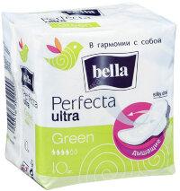 Прокладки гиенические Белла Perfecta ультра  (зеленые) №10
