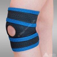 """Бандаж для коленного сустава """"Крейт"""" ( №2 синий с черным) E-514"""