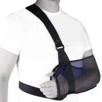 SB-03 Бандаж компрессионный фиксирующий плечевой сустав Экотен, синий, (S,M,L)