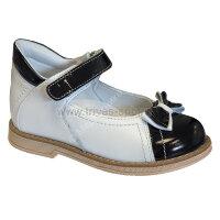 Туфли ортоп малосложные цв.1-бело-черный с закрытым носком TW-226