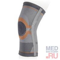 KS-E03 Бандаж компрес.фиксир.нижних конечностей на коленный сустав Экотен, серый, (S, M,L,XL)