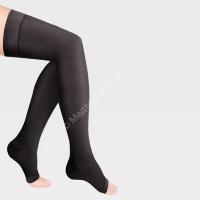 Чулки медиц.компрес.«LUOMMA IDEALISTA», Черные 1кл.открытый носок ID-310  L,M,S,XL Лонг