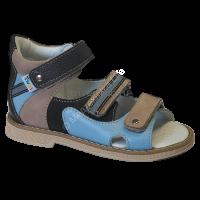 TW-128  Сандалеты ортоп малосложные (с открыт носком)цв.2-коричнево-голубой, 24,25,26,27,28,29,30